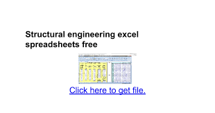 Microsoft Excel Sle Spreadsheets by Structural Engineering Excel Spreadsheets Free Docs
