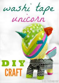 things to do with washi tape make a washi tape unicorn