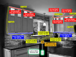 how to put lights above cabinets hardwired led lighting system inspired led