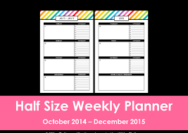 printable agenda calendar 2014 new half size printable planners for 2015 weekly planner and planners