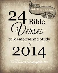 24 bible verses to memorize and study in 2014 with free