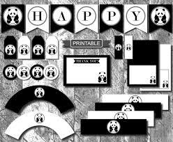 diy panda birthday party decorations printable banner