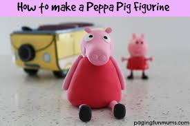 how to make a peppa pig figurine