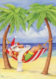 tropical christmas cards santa in hammock on paul brent tropical christmas card by lpg