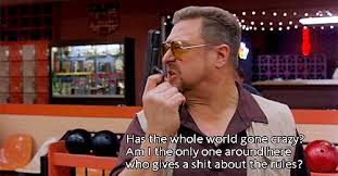 Walter Big Lebowski Meme - life does not stop and start at your convenience
