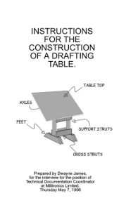 Drafting Table Cover Technical Writing Samples By Dwayne R James