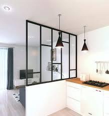 cloison vitree cuisine salon deco salon cuisine ouverte inspirant cloison vitrée pour créer un