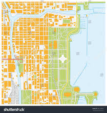 Maps Of Chicago Neighborhoods by Vector Street Map Downtown Chicago Illinois Stock Vector 451324090