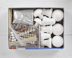 spun cotton ornament kit vintage inspired german christmas craft