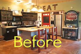 kitchen makeovers ideas before and after rustic kitchen makeover house makeover ideas