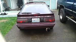 1988 mitsubishi starion 1988 chrysler conquest tsi apexi n1 3 inch exhaust no cats youtube