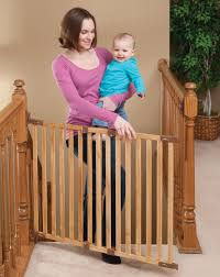 Baby Gate For Top Of Stairs With Banister And Wall Angle Mount Wood Safeway