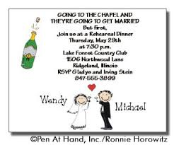 wedding party invitations wedding personalized party invitations by the personal note use