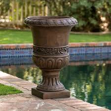 brown turkish 26 inch urn planter by christopher knight home
