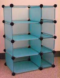 Soft Blue Color Storage U0026 Organization Vertical Stackable Plastic Storage Cubes