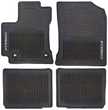 floor mats for toyota corolla amazon com toyota pt908 02143 20 all weather floor mats automotive