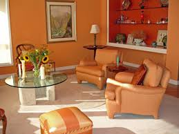 Bright Orange Paint by Living Room Minimalist Living Room Ideas With Drum Shape White