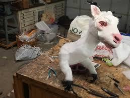 goat head halloween mask how clint case won halloween with a tauntaun riding luke skywalker