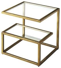 metal and glass end tables houzz end tables open metal work side tables and end tables metal