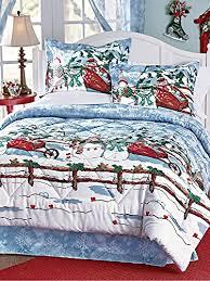 Homemade Duvet Cover Frosty The Snowman U0026 Friends Christmas Themed Full Comforter