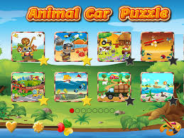 animal car games for kids play jigsaw puzzles and paint race car