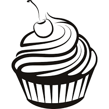 cupcake clipart black n white pencil and in color cupcake