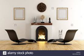 minimalist fireplace empty room with minimalist fireplace with ethnic decor objects and