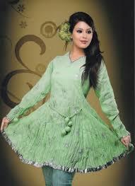 outstanding look anarkali style designer green color kurti