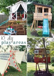 Outside Playhouse Plans 10 Diy Outdoor Playsets U2014 Tag U0026 Tibby