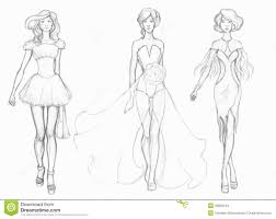 sketch designer clothes fashion designer stock illustration
