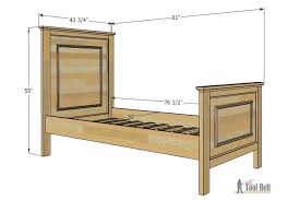 Free Wooden Twin Bed Plans by Twin Bed With Faux Raised Panel Her Tool Belt