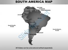 south america continents powerpoint maps powerpoint slide