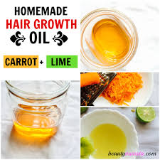 carrot u0026 lime homemade hair oil recipe for hair growth beautymunsta