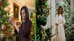 donald trump white house decor obama vs trump at decorating white house for christmas youtube