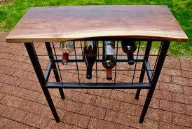 console table with wine storage buy a handmade live edge console table wine storage made to order