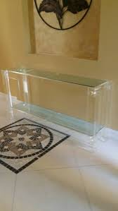 Lucite Console Table Vintage Lucite Console Table Hollywood Regency Mid Century Modern
