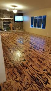 hubby n i made these floors out of plywood n a torch floor