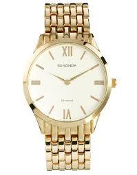 bracelet gold watches images Lyst asos sekonda gold bracelet watch in metallic for men jpeg