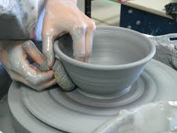 throwing a pot ceramics