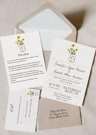 Sunflower Wedding Programs Sunflower Wedding Invitations By Onlybyinvite Wedding Stationery