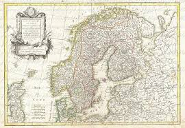 Map Of Norway Map Of Norway And Sweden From The 1700s 048 Scandinavia Bergen