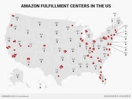 Amazon Seattle Map by Amazon Warehouse Locations In Us Business Insider