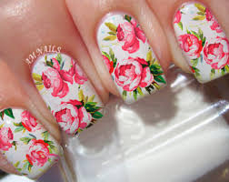 flower nail decals etsy