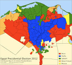 2012 Election Map by A First Look At First Round Egypt Presidential Election District