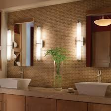bathroom vanity lights bronze brown finish laminated wooden plank