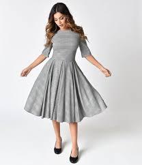 the pretty dress company black white prince of wales hepburn