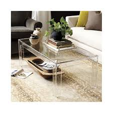 coffee table cost felicity acrylic coffee table ballard designs