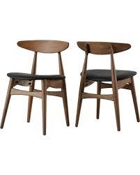 Black Walnut Dining Chairs Deal Alert 25 Cortland Modern Walnut Dining Chair