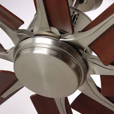 contemporary brushed steel ceiling fan emerson