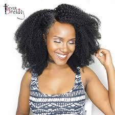 non hairstyles mongolian afro kinky curly weave human hair extensions 4b 4c non